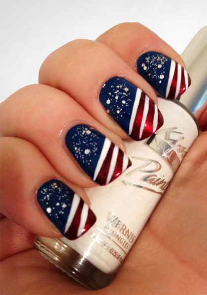 9 easy holiday nail art designs with pictures styles at life 4th of july nails you can try out this easy prinsesfo Gallery