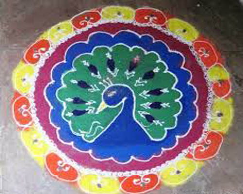 Easy And Colorful Rangoli Design