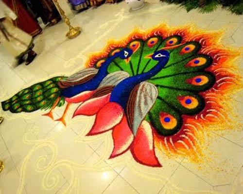 25 best peacock rangoli designs styles at life
