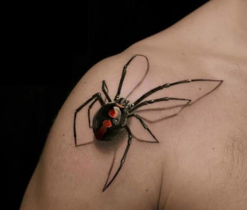 15 popular spider tattoo designs with meanings for Black widow spider tattoo