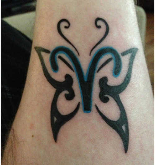 A Butterfly Aries Symbol