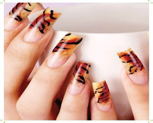 Airbrushed gradient and zebra design