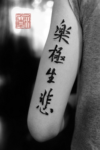 15 awesome chinese tattoo designs with meanings for Chinese calligraphy tattoo