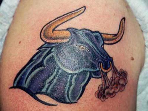 Blue Bull Tattoo Design