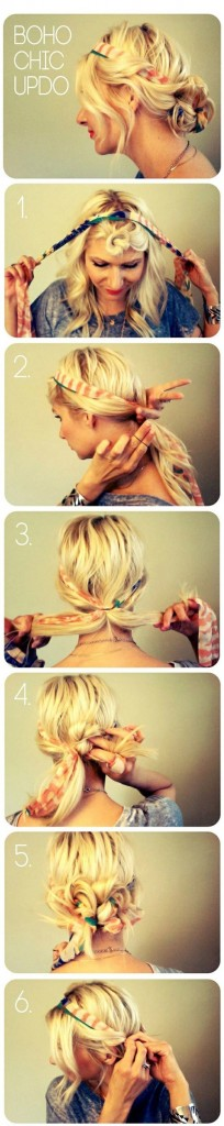 Boho Chic Updo (With Scarf)