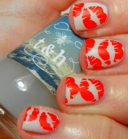 9 Fantastic Kiss Nail Art Designs With Pictures Styles At Life