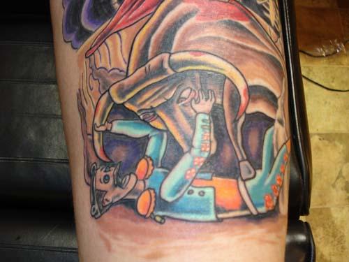 Bull Fighting Tattoo Designs