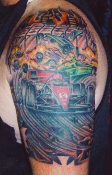 Car Crash Tattoo Designs