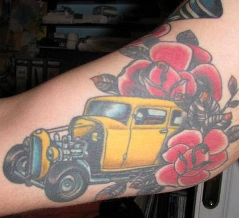 car-tattoo-embedded-with-flowers