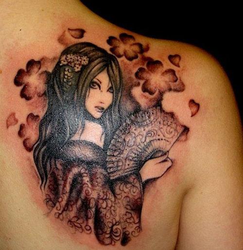 Chinese lady tattoo