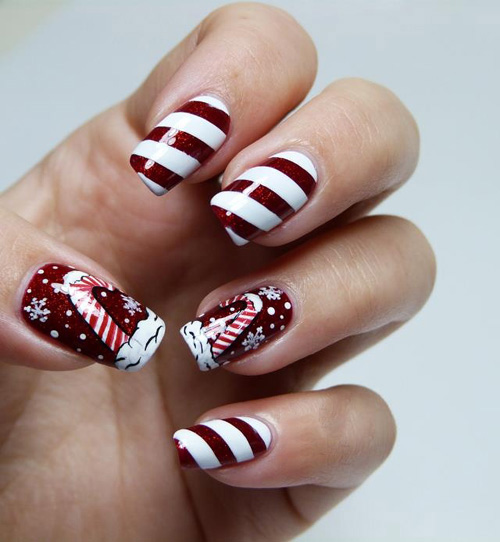 9 easy holiday nail art designs with pictures styles at life holiday nail art prinsesfo Images