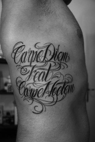 15 best carpe diem tattoo designs with meanings for Carpe diem tattoos