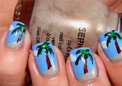 9 Best Palm Tree Nail Art Designs Styles At Life