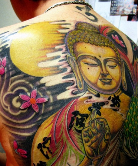Colorful Buddha Tattoos
