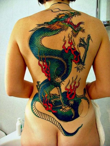 Dragon Body Art Tattoos