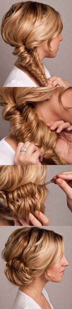 Fishtail Braid Bun