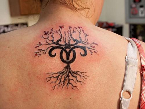 Flower Aries Tattoos for Women