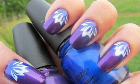 9 simple flower nail art designs for beginners styles at life this prinsesfo Gallery