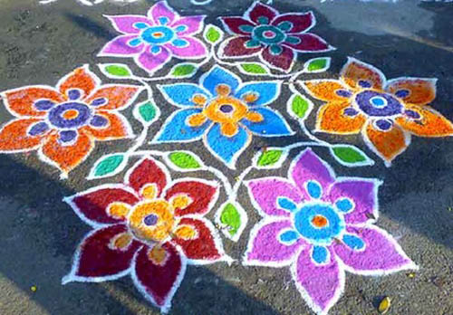 Best free hand rangoli designs 2