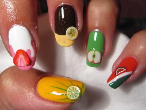 Fruity Fimo nails