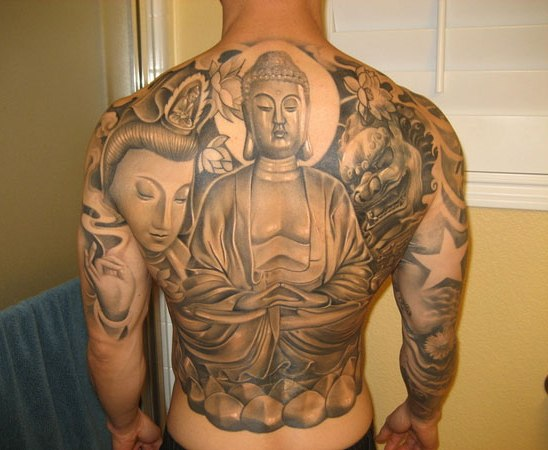 Full Body Buddha Tattoos