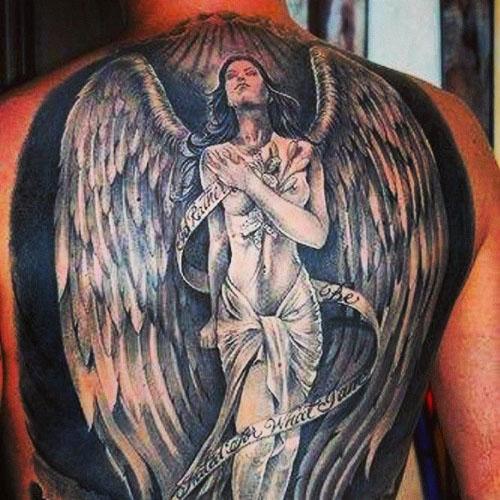 Full size angel tattoos