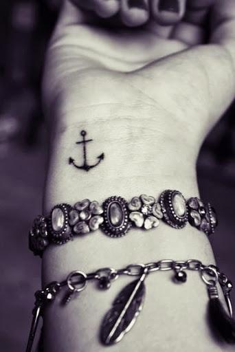 Anchor Wrist Tattoo