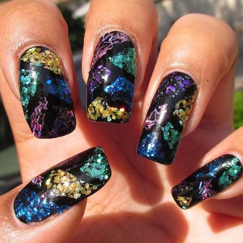 Stained Glass Nail Art: 9 Best Stained Glass Nail Art Designs