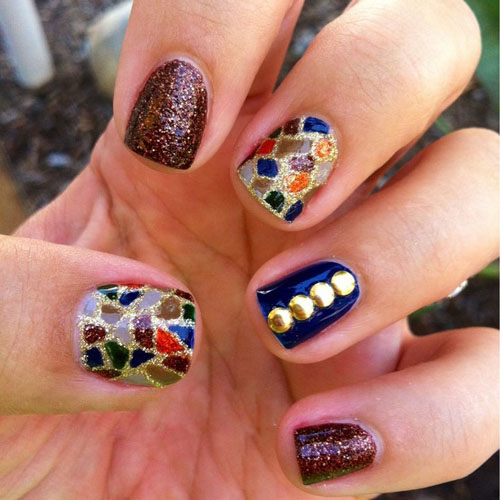 9 Best Stained Glass Nail Art Designs Styles At Life