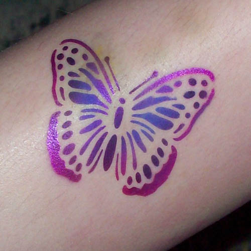 Airbrush Tattoo Design for Girls