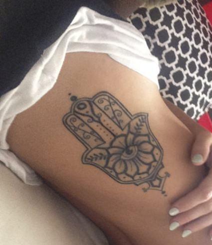 hamsa hand arabic tattoo
