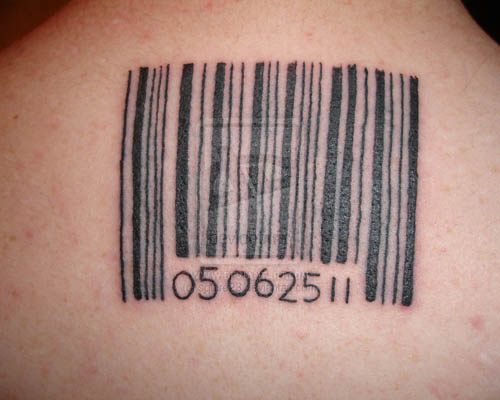 ISBN Barcode Tattoos