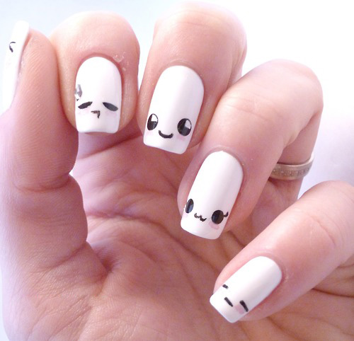 Kawaii-easy-to-do-free-hand-nails