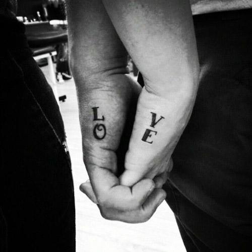 Love couple tattoo design