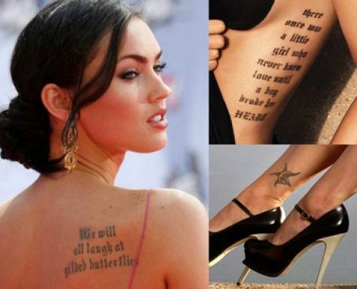 20 famous female celebrity tattoos and meanings. Black Bedroom Furniture Sets. Home Design Ideas