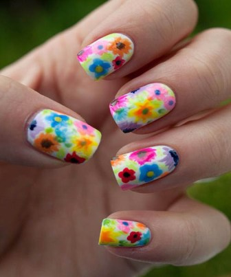 Multi-coloured-floral-pattern