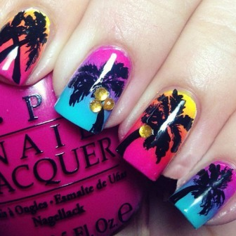 9 Best Palm Tree Nail Art Designs | Styles At Life