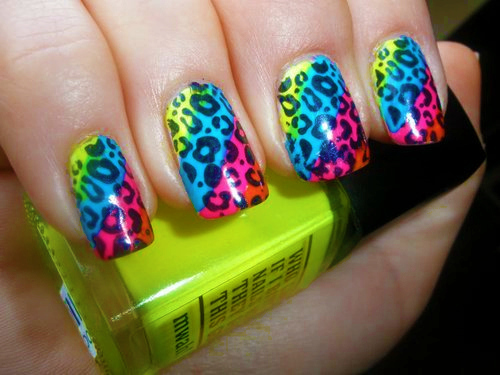 9 best neon nail art designs with pictures styles at life neon nail art prinsesfo Choice Image