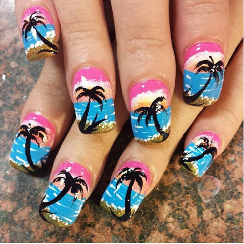 Palm Tree Free Hand Design