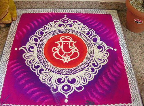 Best free hand rangoli designs 7