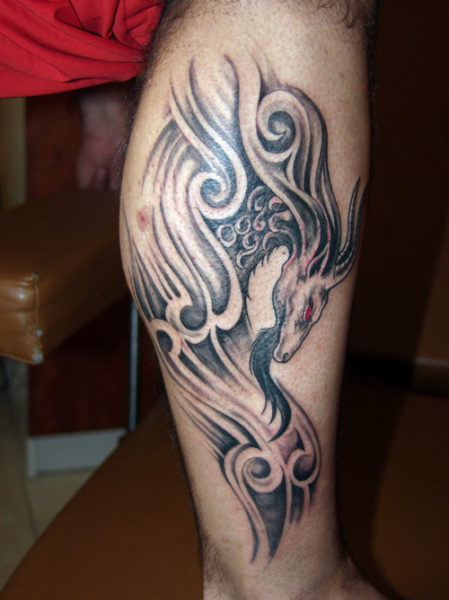 Scary Capricorn Tattoo Designs