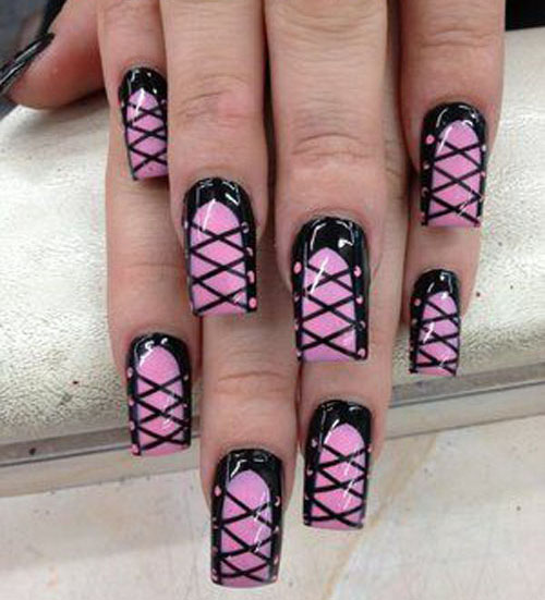 Sexy full nails bow designs