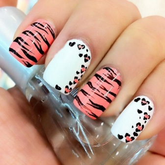 9 simple animal print nail art designs styles at life simple zebra nail design this prinsesfo Image collections