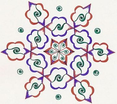 Easy Elegant Rangoli Design