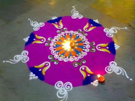 Simple and Easy Rangoli Designs 14