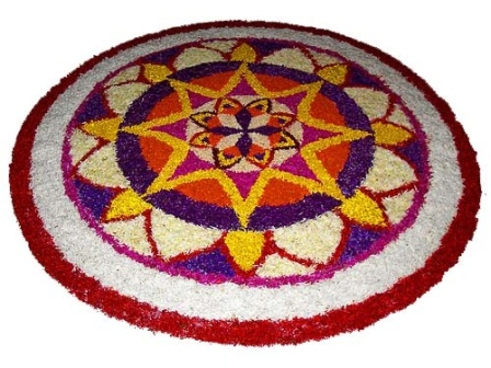 Different Floral Rangoli Designs