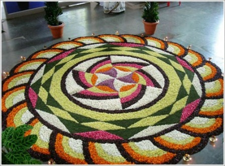 Flower Rangoli Design For Special Occasions