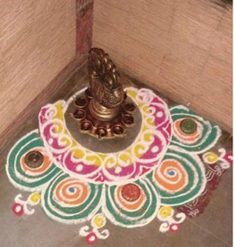 Corner Rangoli Design