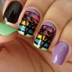 9 Best Palm Tree Nail Art Designs with Pictures