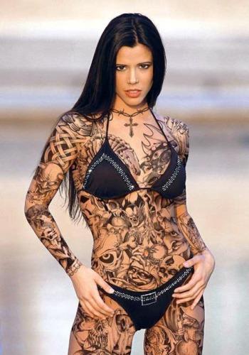 Whole body Celtic tattoo